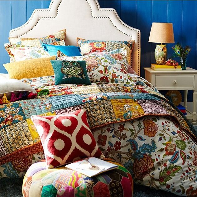 Cute bed setup from Pier 1