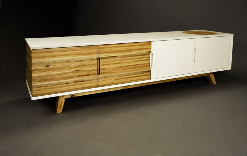 Admirable Contemporary Credenza Design Ideas Feature Wooden Material Credenza With White Stained Finish And Modern Credenza Design Modern Hardware White Stain