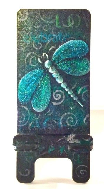 Dragonfly Phone Stand E-Packet - Lonna Lamb
