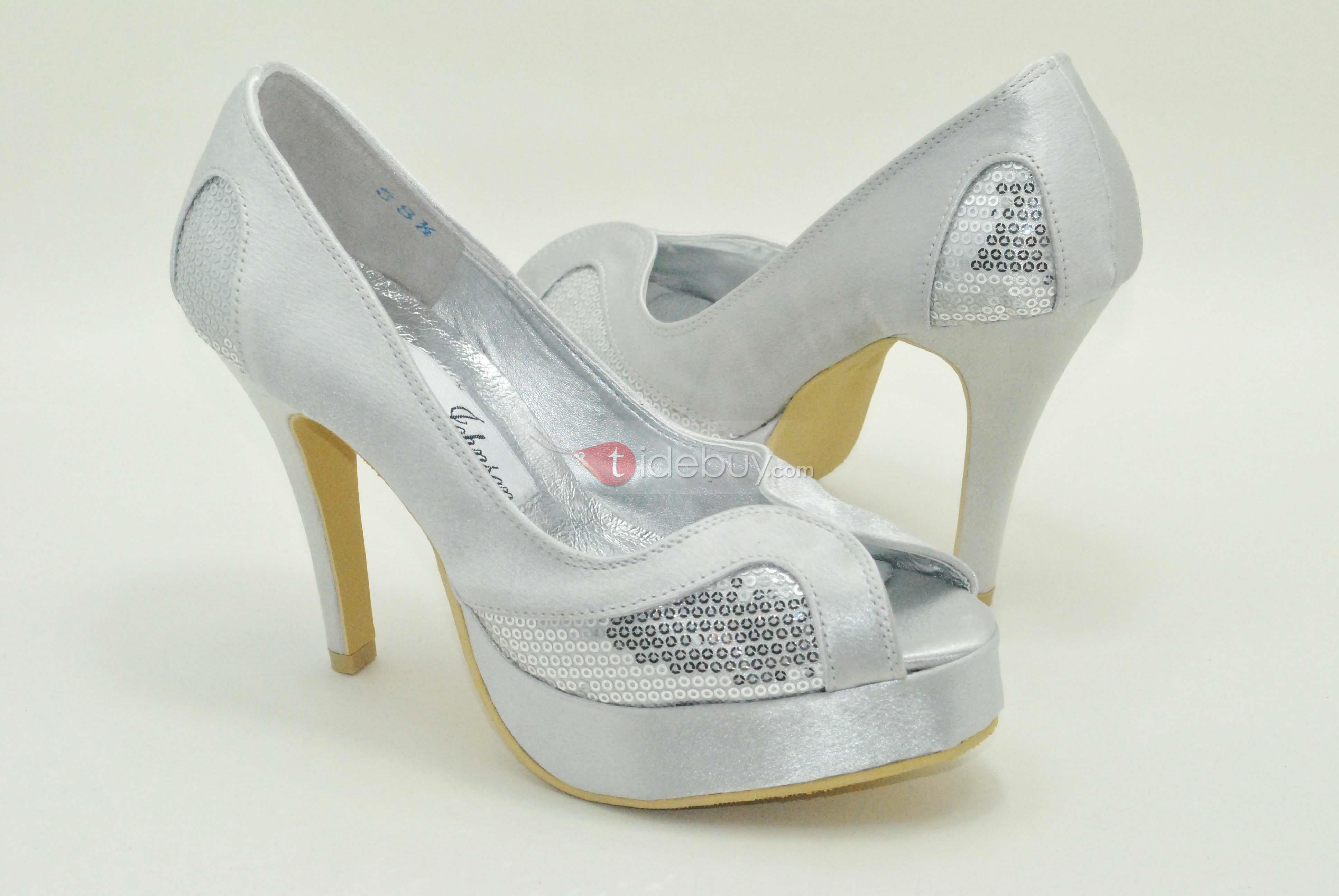 US$98 99 Elegant Mature Lady Peep toe Wedding Shoes Shoes Peep