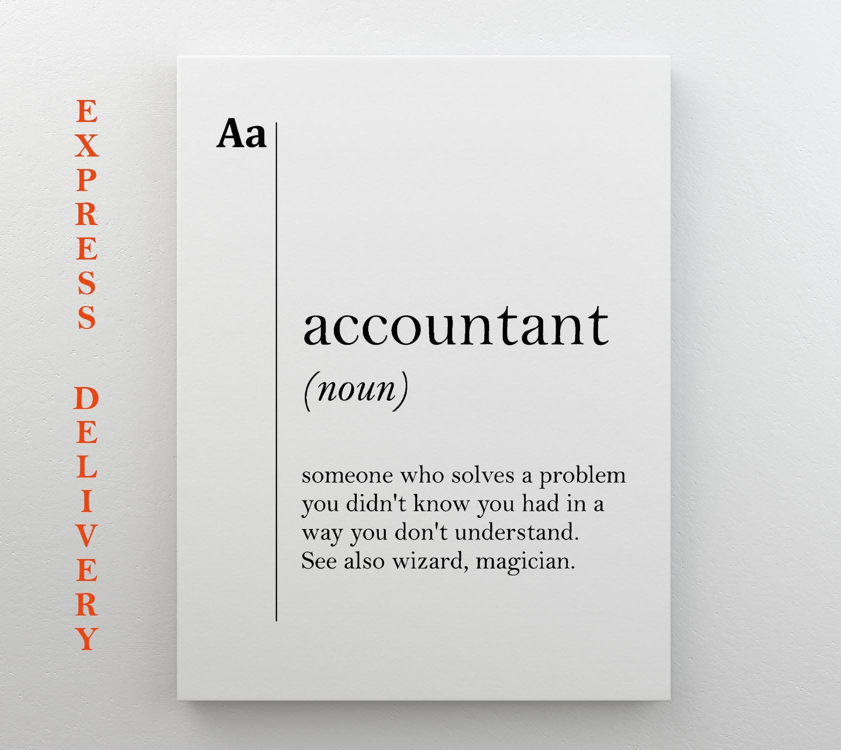 Accountant Canvas Art Definition Poster Accountant Gift Etsy New Job Gift Job Gifts Job Poster