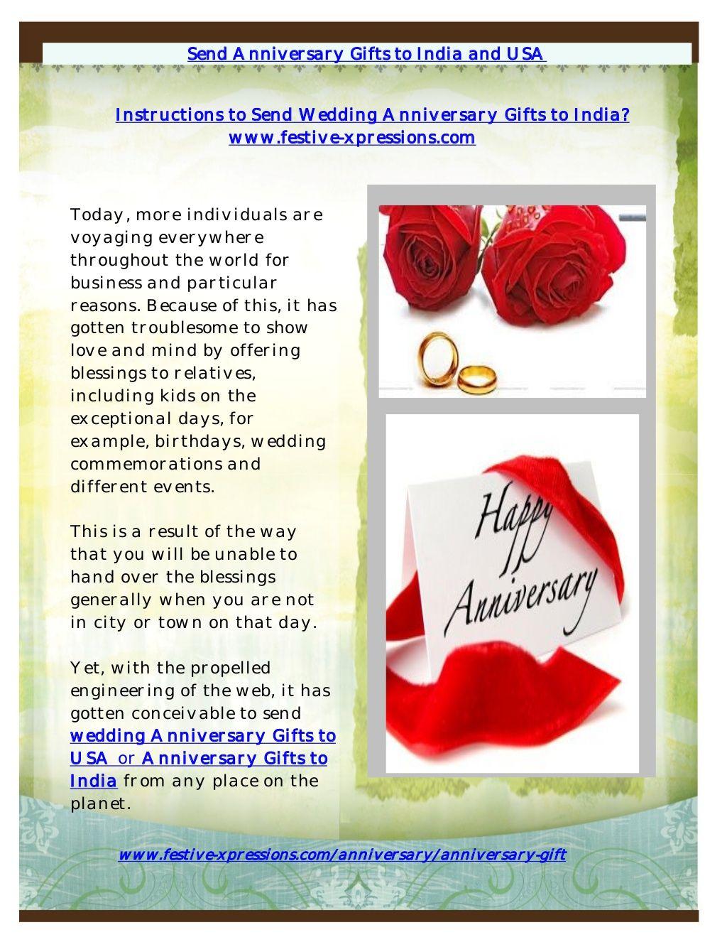 Send Wedding Anniversary Gifts To India By Pooja Sharma Via
