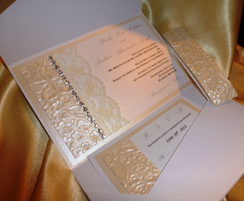 Ivory and White Pocket fold Luxury Wedding by