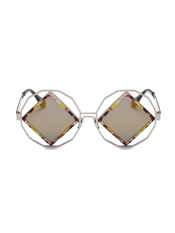 a37a12167e Pataaka Brown Metal Full Frame Sunglasses