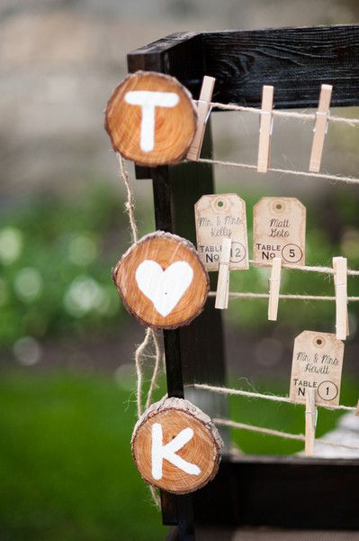 #Rustic #table assignment display {Daniel Boone Photography}