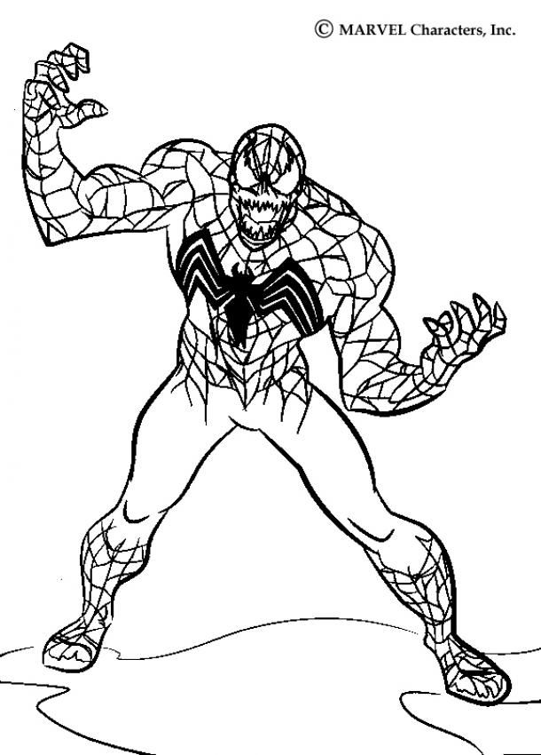 spiderman 3 venom coloring pages - photo#13