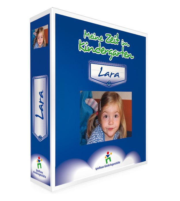 """Kindergarten Ordner Premium Layout 1 - """"Meine Zeit im Kindergarten"""" - Farbe Nachtblau"""