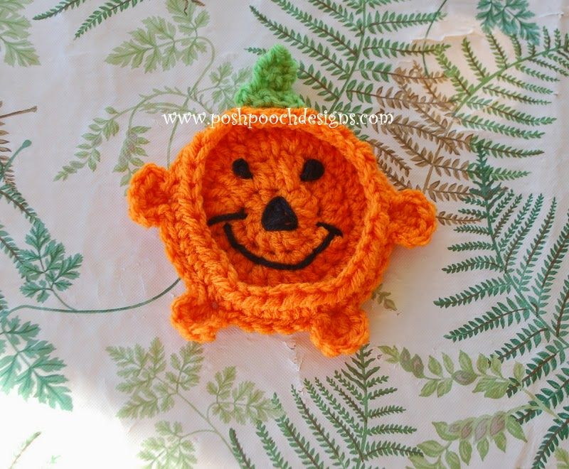 Posh Pooch Designs Dog Clothes: Pumpkin Coaster Crochet Pattern ...