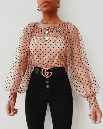 Something About You Polka Dot Blouse – Clothes