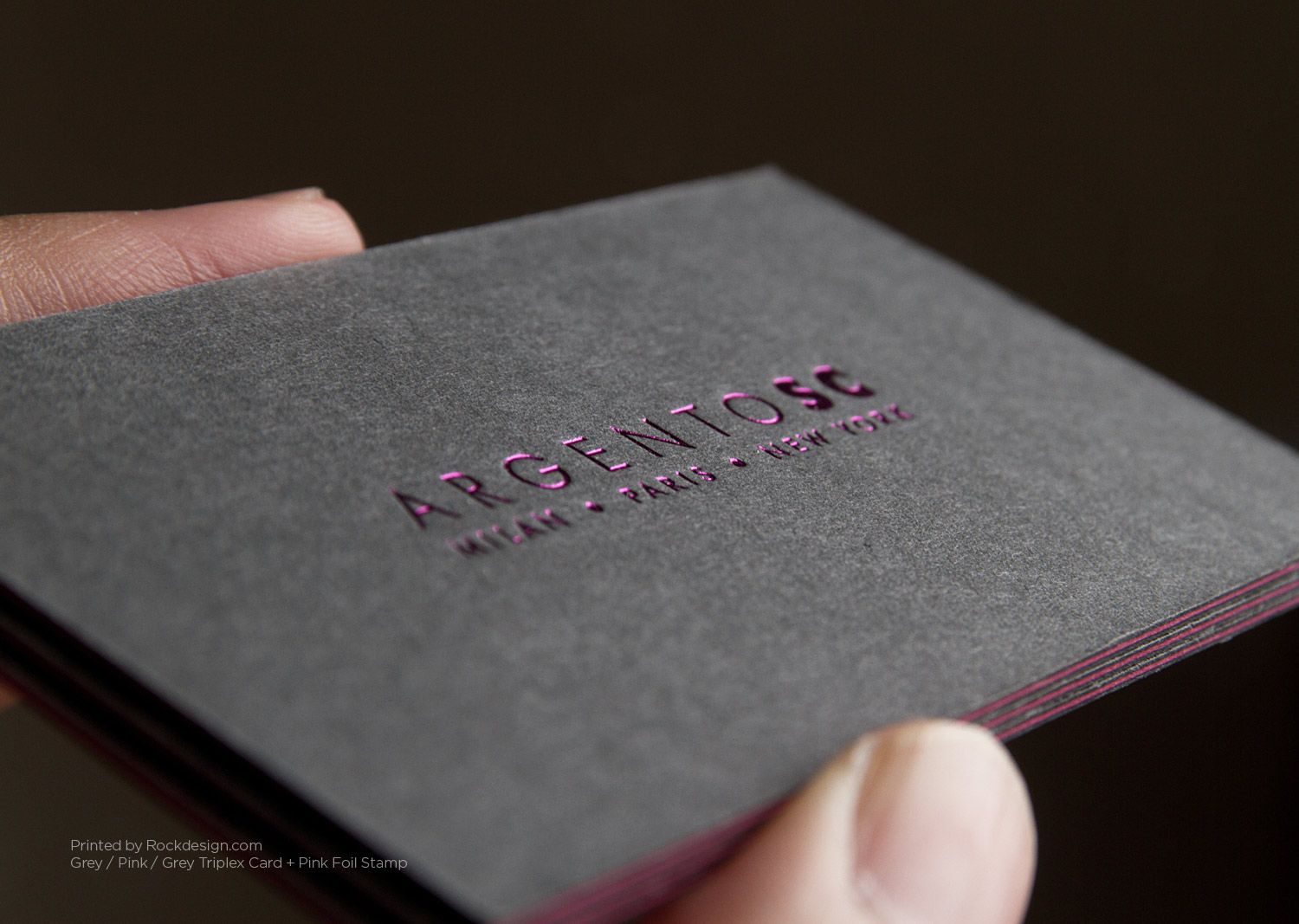 RockDesign.com | High End Business Cards | Gray Business Cards ...