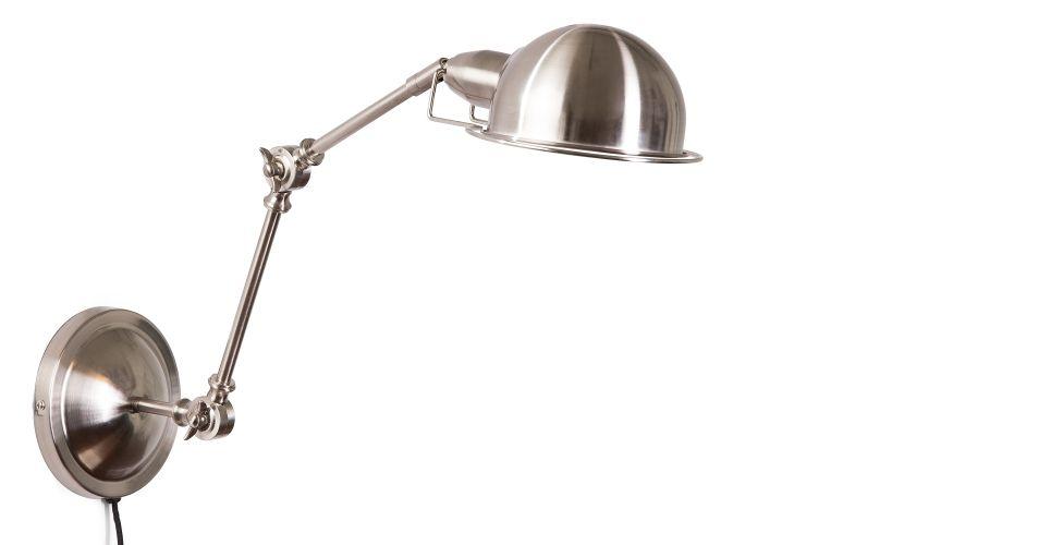 Jenkins Wall Lamp Satin Nickel Made Desk Flat Ideas