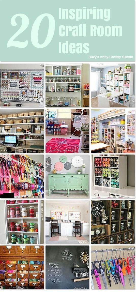 20 Inspiring Craft Room Ideas Craft Room Ideas Pinterest