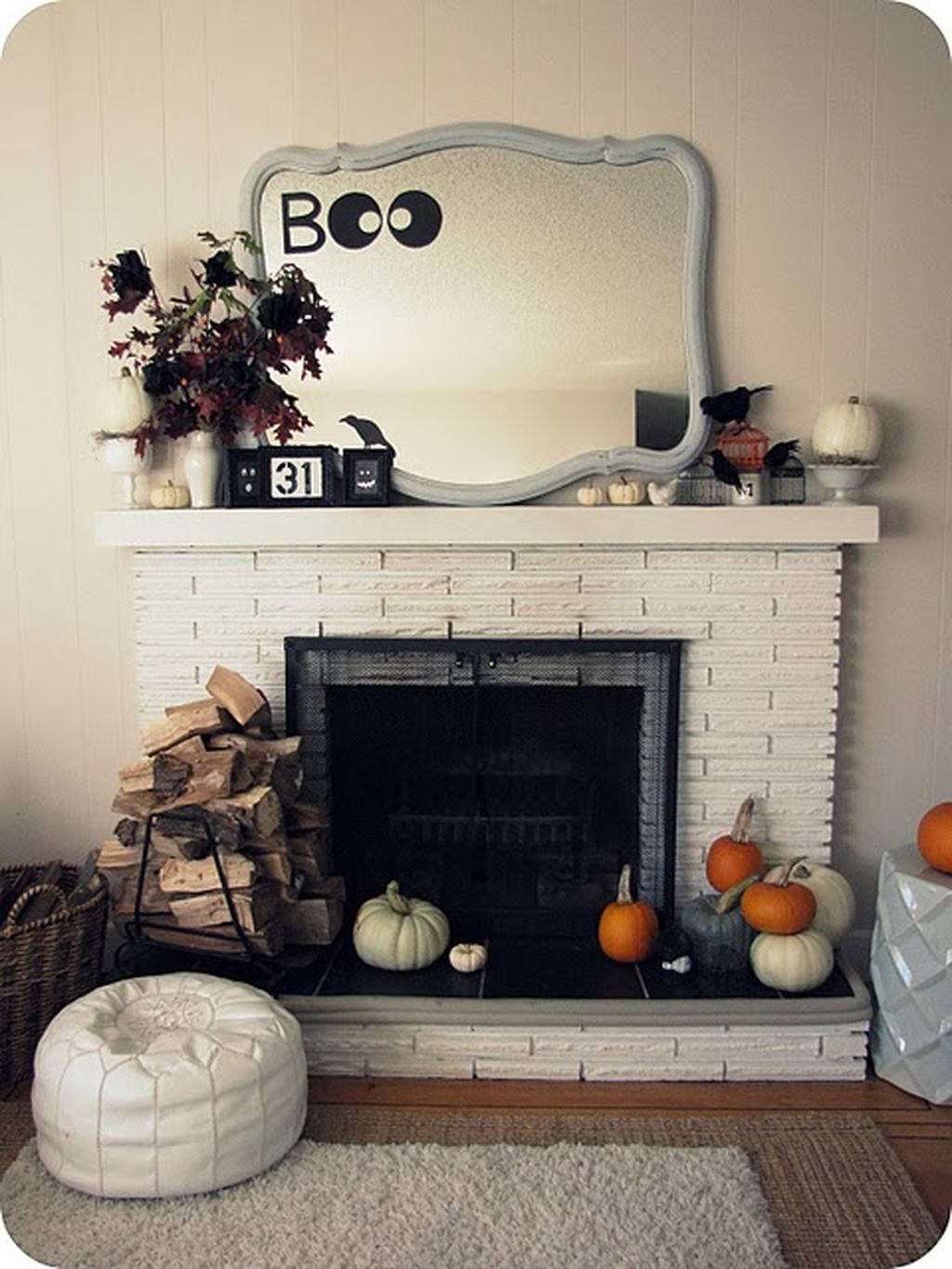 Awesome 99 Scary but Classy Halloween Fireplace Decoration Ideas - halloween house decoration ideas