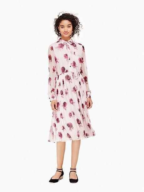 04aa6a970f57e encore rose chiffon dress | Kate Spade New York | Retro And Modest ...