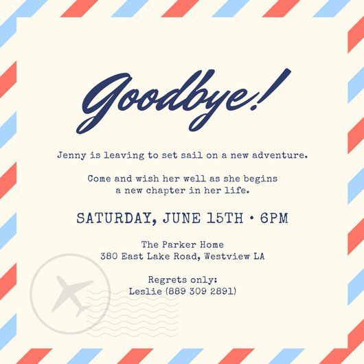 Party: Farewell Party Invitation As Your Ideas Amplifyer ...