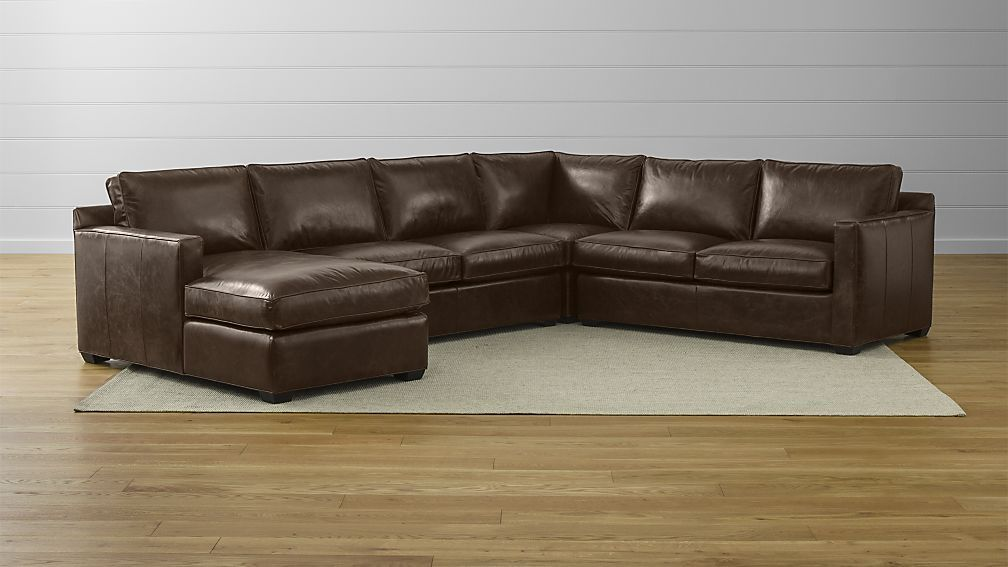 Davis Leather 4 Piece Sectional Sofa Sectional Sofa Sofa Sectional Couch