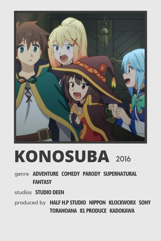 Konosuba Minimal Poster In 2021 Anime Printables Anime Reccomendations Anime Titles