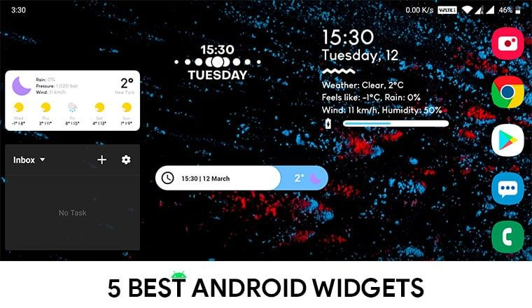 5 Best Home Screen Widgets For Android Cool Android Apps