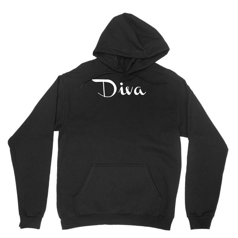 diva funny. Unisex Hoodie. Our lovely best seller Pullover Unisex hoodie with printed lovely arts from our lovely artist. Cozy, heavyweight classic you can't live without. More colors and more styles available with this design..