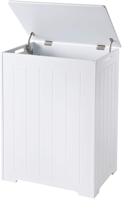 Elegant Brands Waschetruhe Aus Holz Weiss 36 X 50 X 68 Cm Amazon De Kuche Haushalt Waschetruhe Truhe Wasche