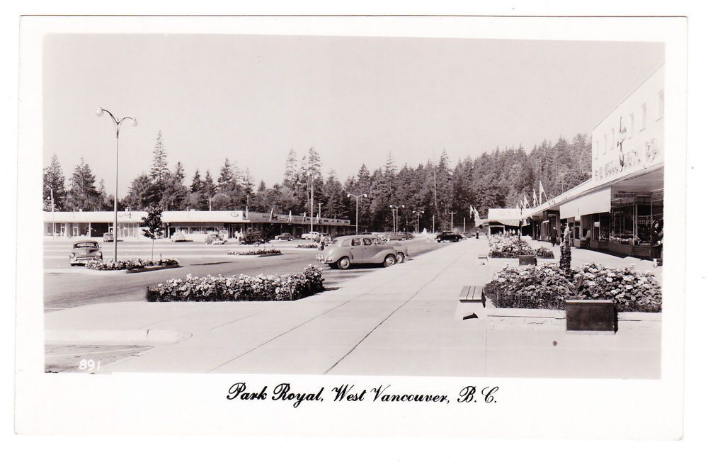 Bc West Vancouver Park Royal Shopping Centre Walker C 1952 1953 Rppc West Vancouver Vancouver Vancouver Bc Canada