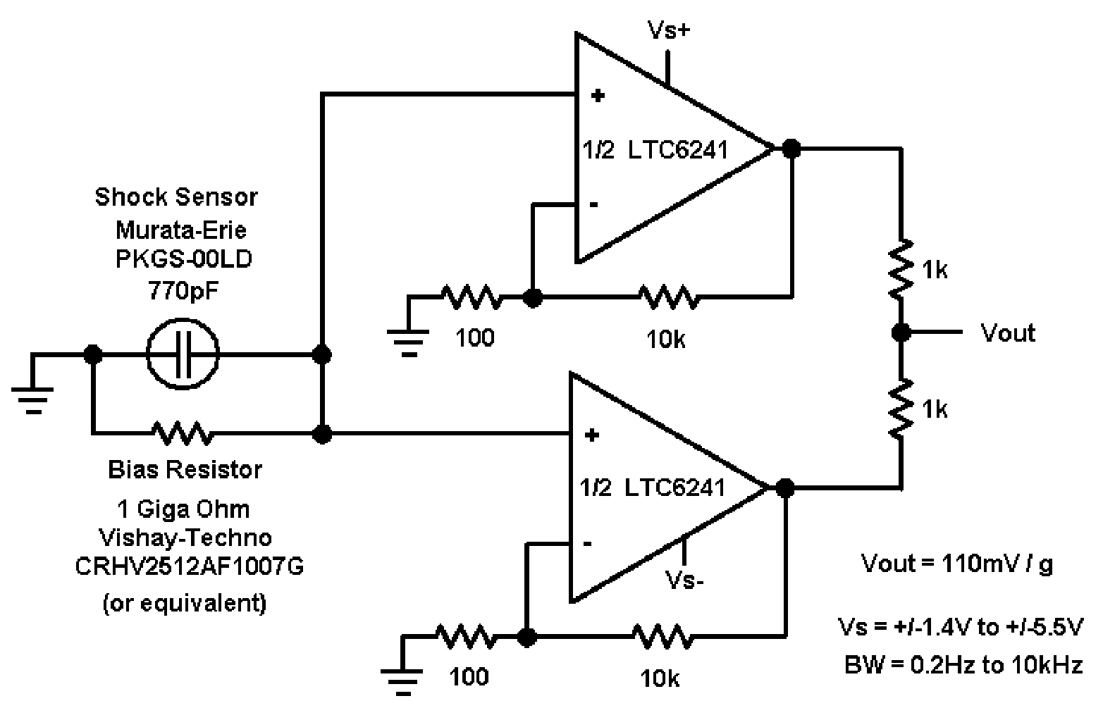 Figure 10 Non Inverting Charge Amplifier Offers Several