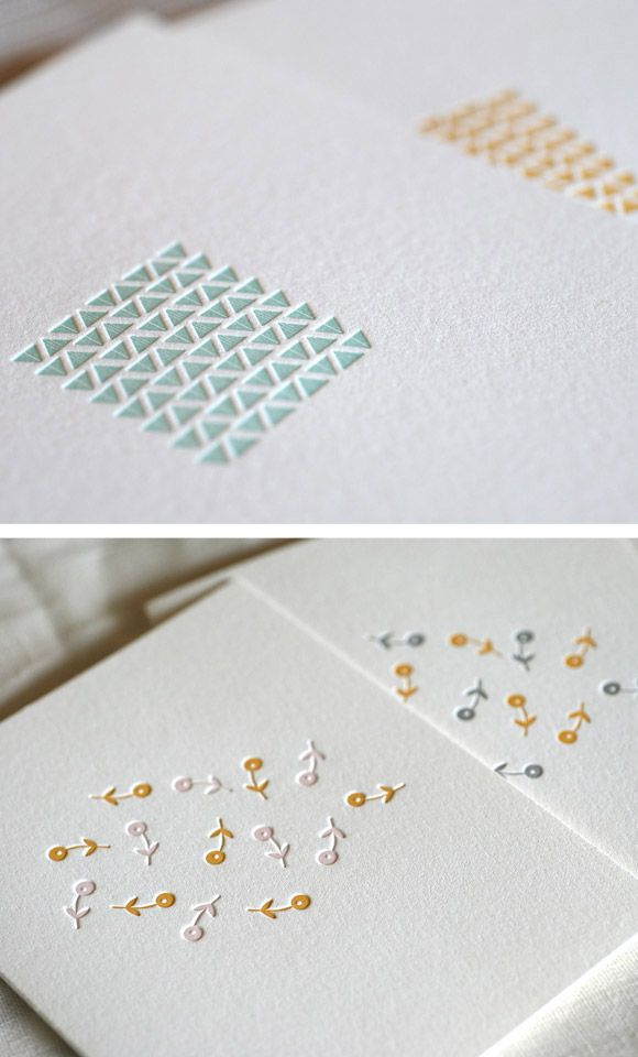 the letterpress cards and paper goods from satsuma press are the