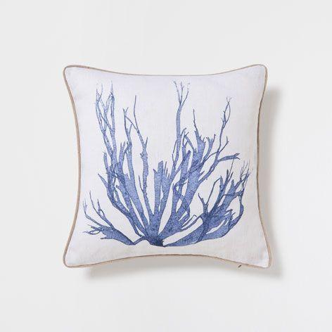 Seaweed Print Throw Pillow Decorative Pillows Decor And Pillows Zara Home United States Of America