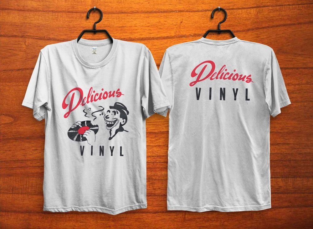 Vintage Delicious Vinyl Records 1990s Hollywood Universal Music Tshirt Reprint Fashion Clothing Shoes Accessories Men Shirts Great T Shirts Movie T Shirts