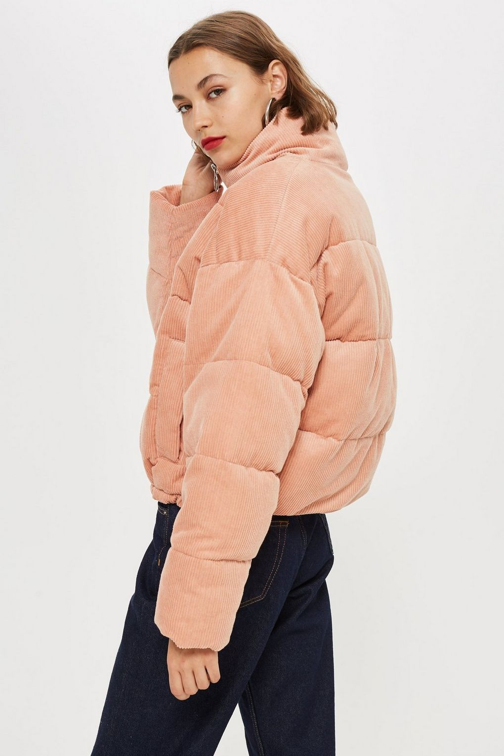 85ead52ad Corduroy Puffer Jacket in 2019 | Shopping Bag | Puffer jackets ...
