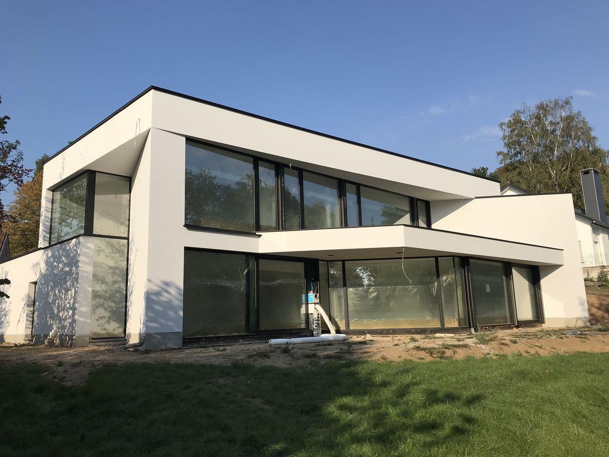 Construction Du0027une Villa Contemporaine Du0027exception Dans Le Brabant Wallon.  La Vue