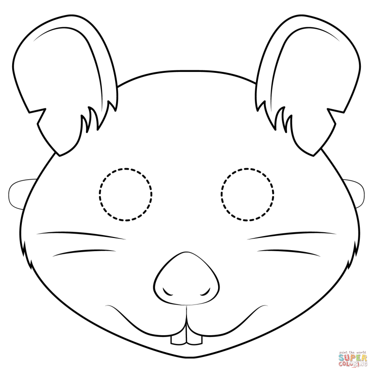 Free Printable Coloring Pages Throughout Paper Mask For Kids 8211 Rat Mask Template Free Downlo Mask For Kids Printable Coloring Pages Free Printable Coloring