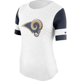 Nike Los Angeles Rams Women's White Stadium Fan Top #rams #larams #nfl