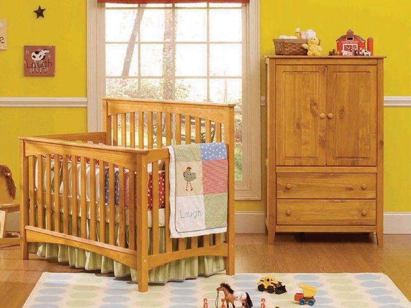 Infinity Stationary Crib By Baby S Dream Shown In Chestnut Cribs Nursery Furniture Nursery Glider