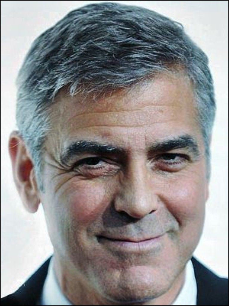 hairstyles for senior men | george cloney | celebridades