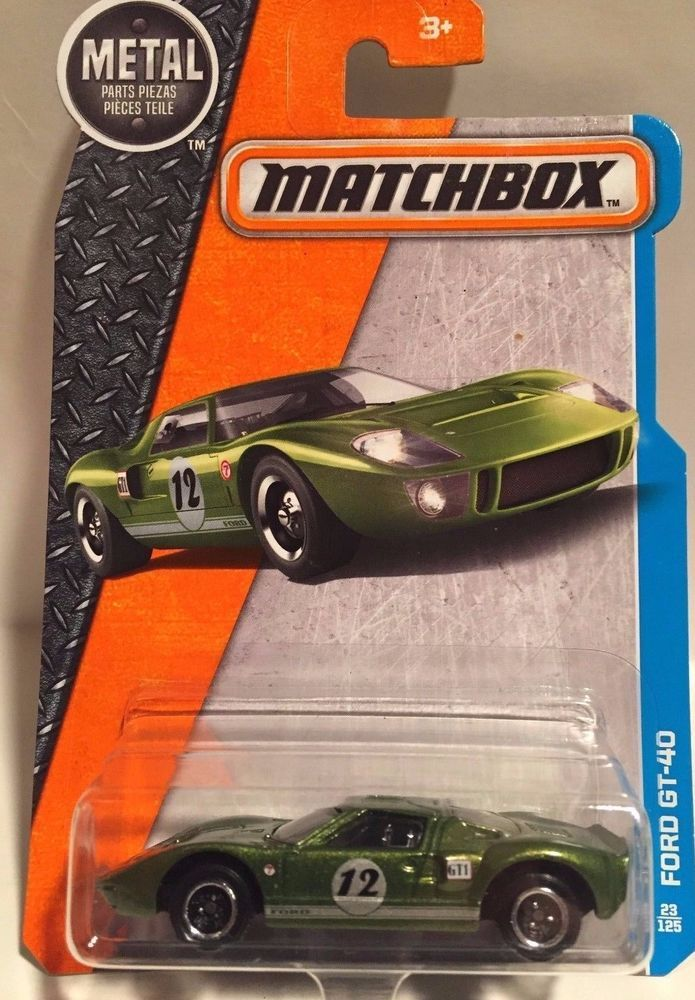 Matchbox Ford Gt 40 Diecast Metal Car Toy Scale 1 64 Mattel Ages 3