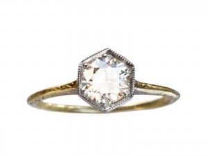 1920s 0.72ct Diamond Hexagonal Ring