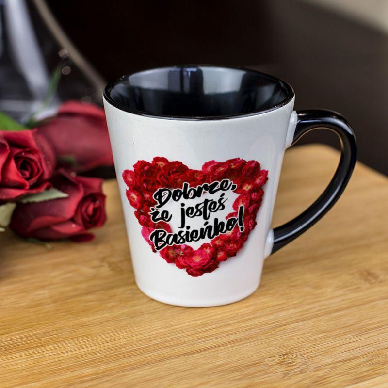0c7d21e71ae1b0 Kubek latte dla drogiej i ważnej kobiety z napisem