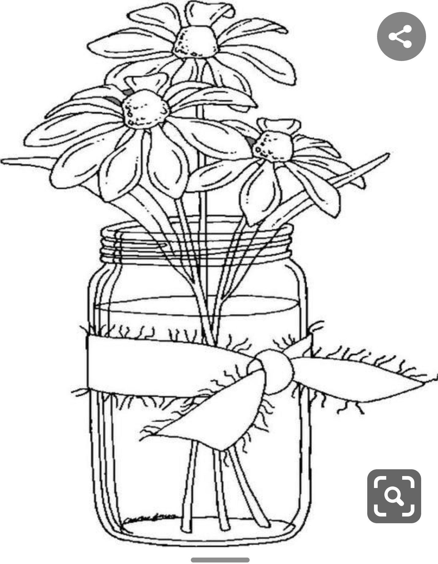 Vaas Met Bloemen In 2020 Coloring Pages Flower Coloring Pages Coloring Books