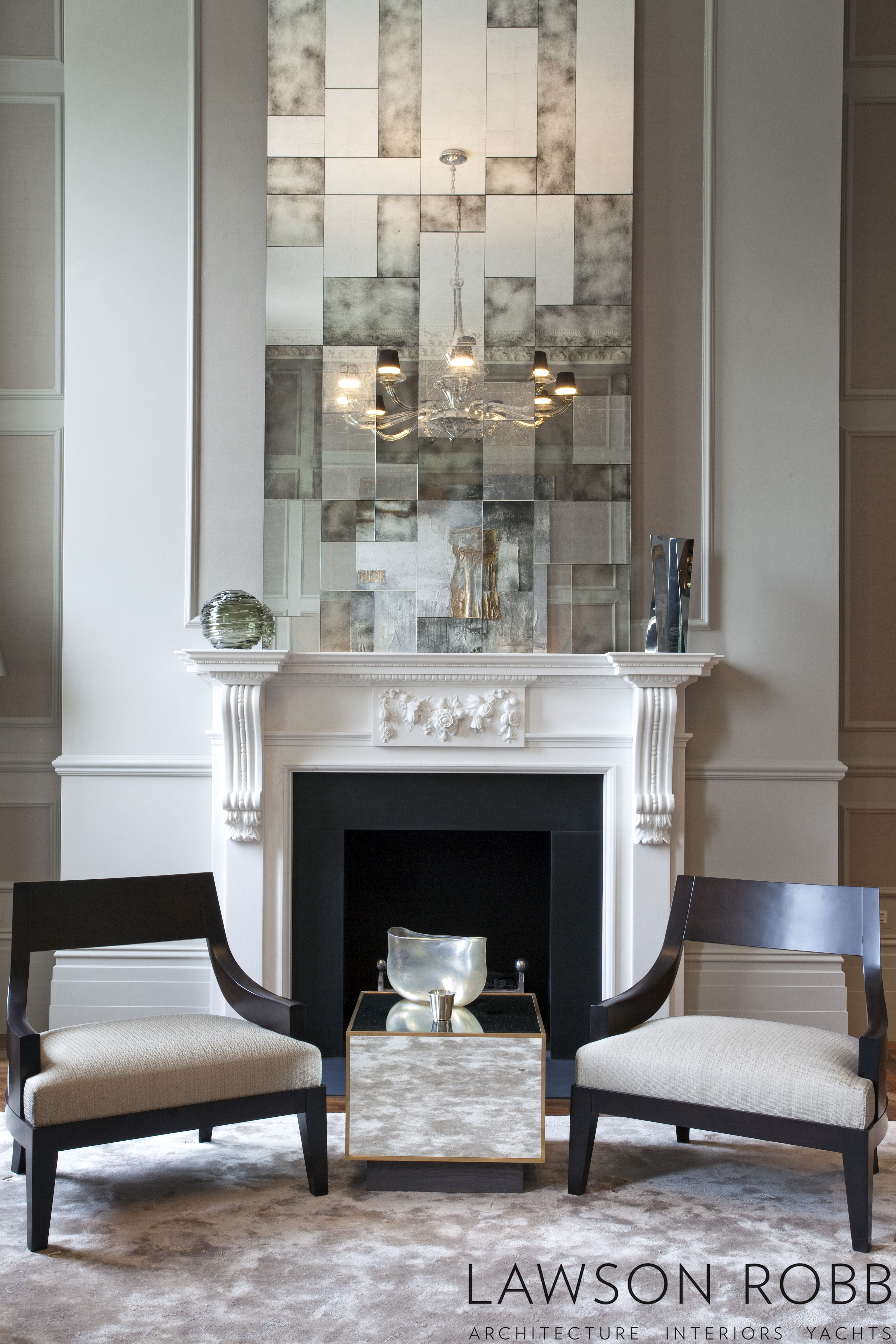 Luxury Lancasters Hyde Park Apartment London With Images Luxury Interior Fireplace Design Mirror Above Fireplace