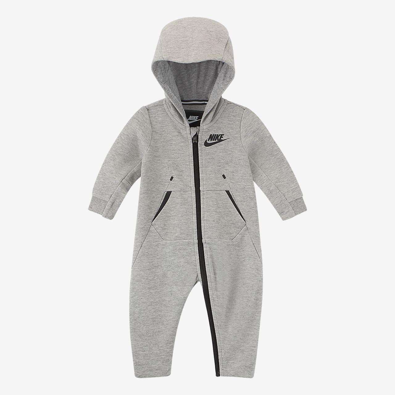 Nike sportswear tech fleece baby 1224m hooded coverall