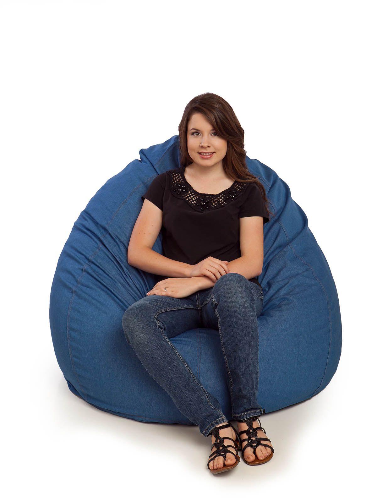 Durable Denim Bean Bag Chair Large