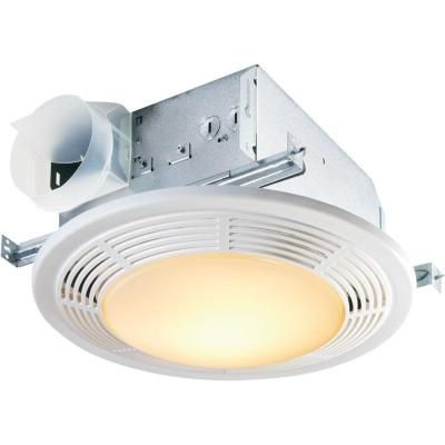 Broan Nutone Decorative White 100 Cfm Ceiling Bathroom Exhaust Fan With Light 8664rp The Home Depot In 2020 Fan Light Bathroom Fan Light Bathroom Fan