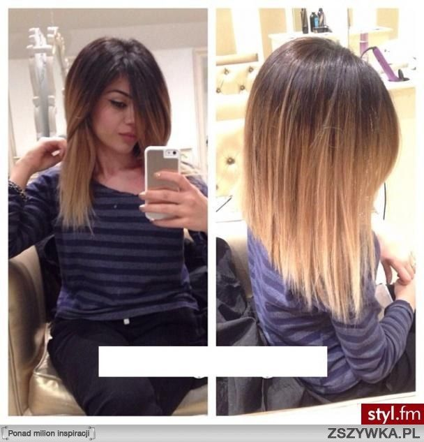 long bob with ombre