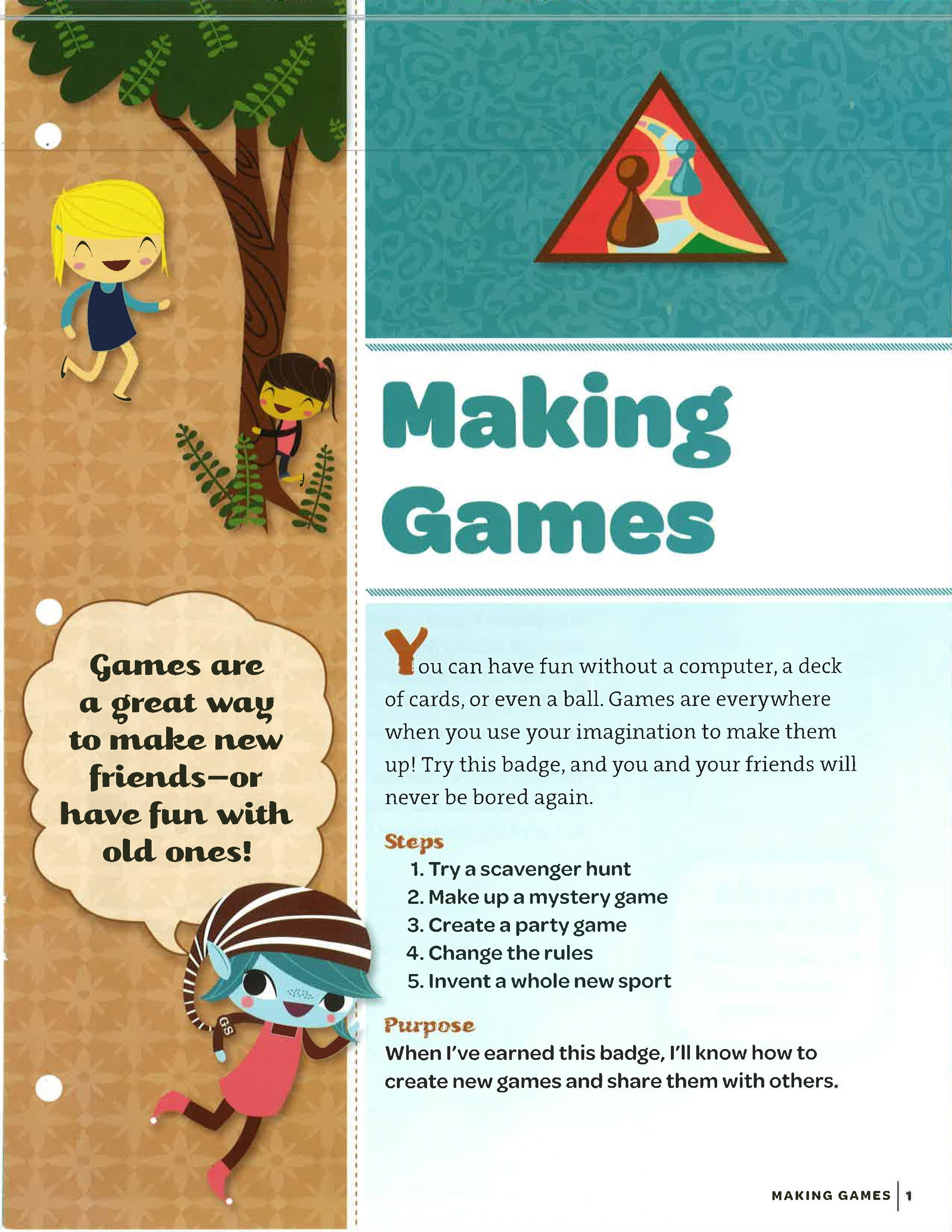 A World Of Girls Skill Building Badge Making Games