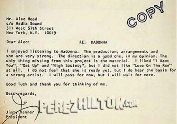 10 Rejection Letters Sent to Very Successful People Pinterest - rejection letter sample