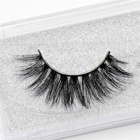 d36815cac99 Mink lashes 3D Mink false eyelashes cruelty free natural Lashes volume Real Mink  Lashes Handmade Crossing Thick Lashes D08