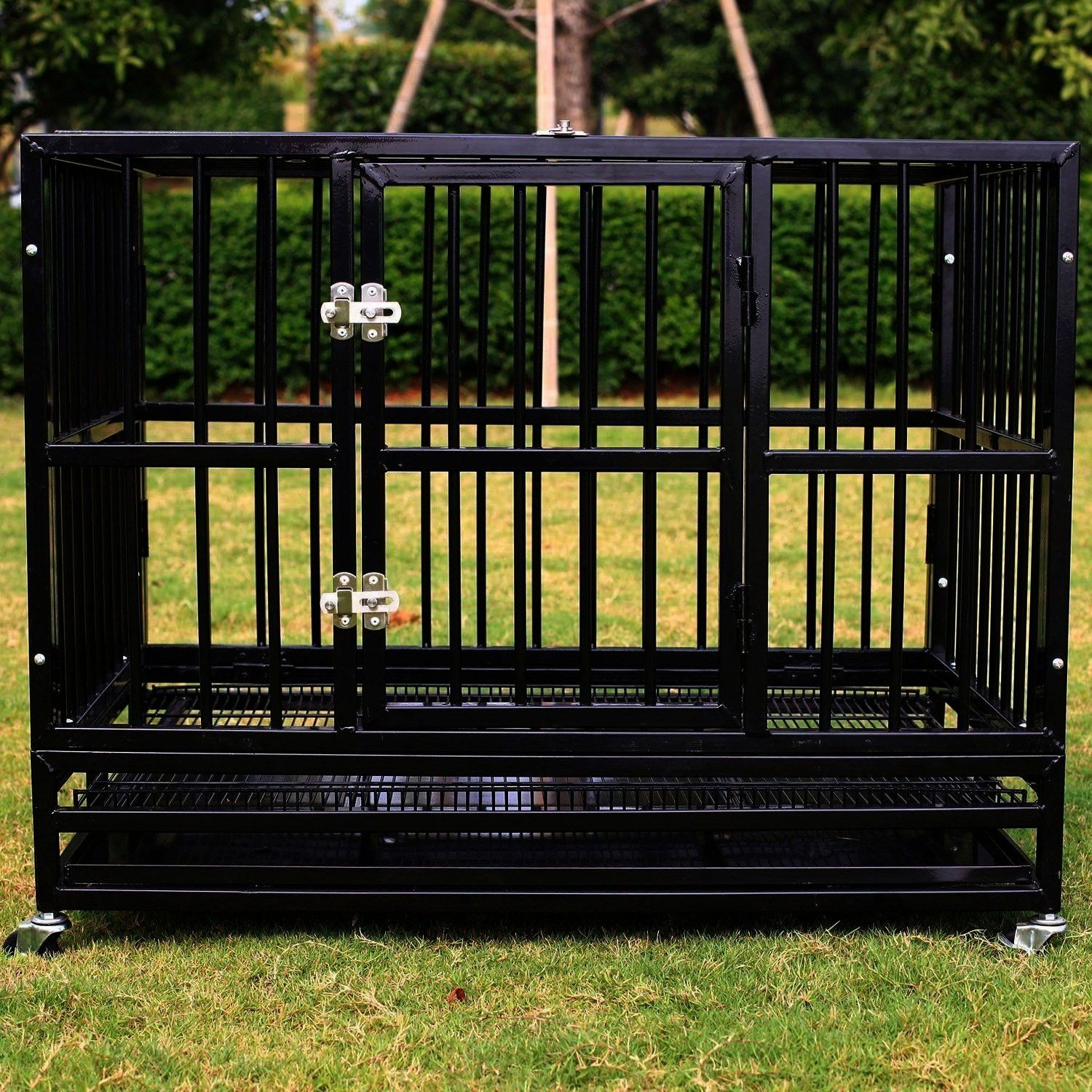 Charge Walcut New Heavy Duty Strong Metal Pet Dog Cage Crate C   Excellent Free of Charge Walcut New Heavy Duty Strong Metal Pet Dog Cage Crate C  Excellent Free of Charg...
