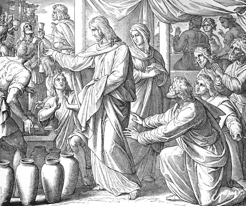 Bilder Der Bibel Hochzeit Zu Kana Julius Schnorr Von Carolsfeld