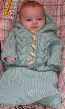 Top Down Baby Bunting - Knitting Patterns by Amanda Lilley ...